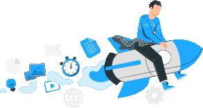 Digital-Marketing-mobile-elements-moving-rocket